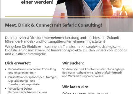 Vorschaubild Meet, Drink & Connect Mai 2020