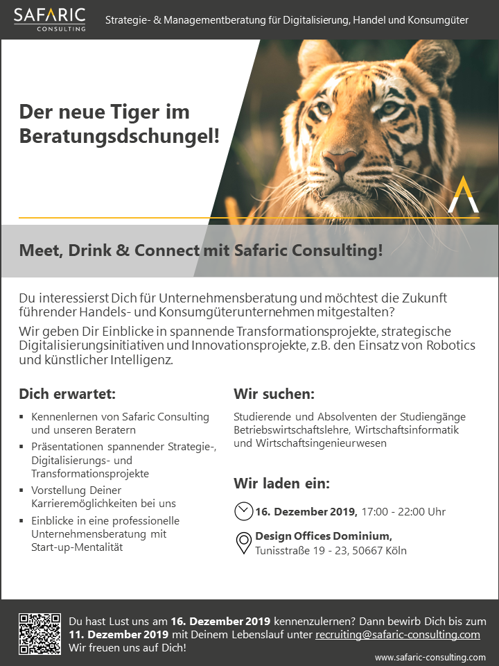 Meet, Drink & Connect - Dezember 2019